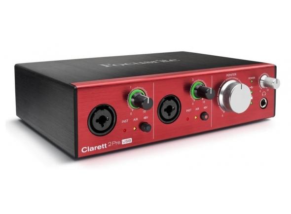 Interface Áudio USB Focusrite Clarett 2Pre USB