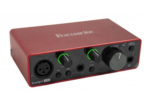 Interface Áudio USB Focusrite Scarlett Solo 3rd Gen