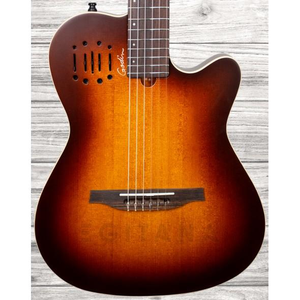 Guitarras clássicas eletrificadas Godin Multiac Encore Burnt Umber