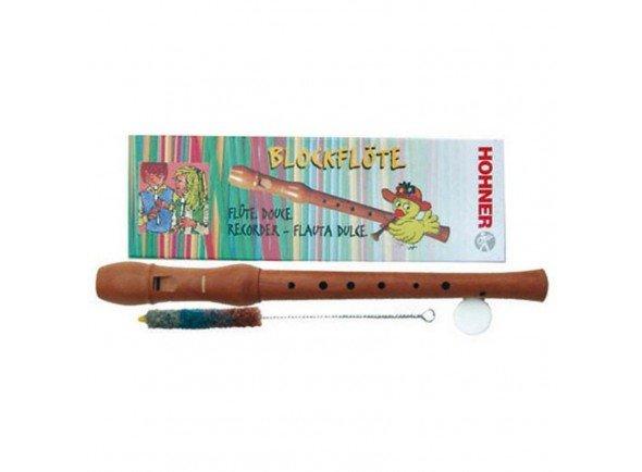 Hohner 9504   Flauta bisel em madeira  Dedilhação barroca  Inclui escovilhão e lubrificante para cortiça