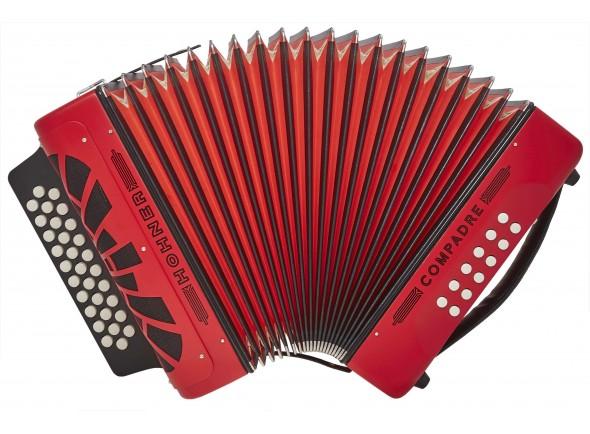 Concertina Hohner Compadre Vermelha GCF