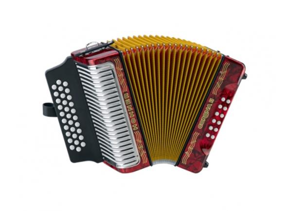 Hohner  Concertina  Corona II GCF Vermelho com Saco