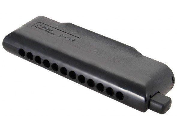 Hohner CX 12 C-Major   48 palhetas  Cor preto  Pente de plástico