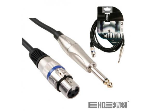 Cabos XLR / Microfone HQ Power CABO JACK + XLR FÊMEA 3M
