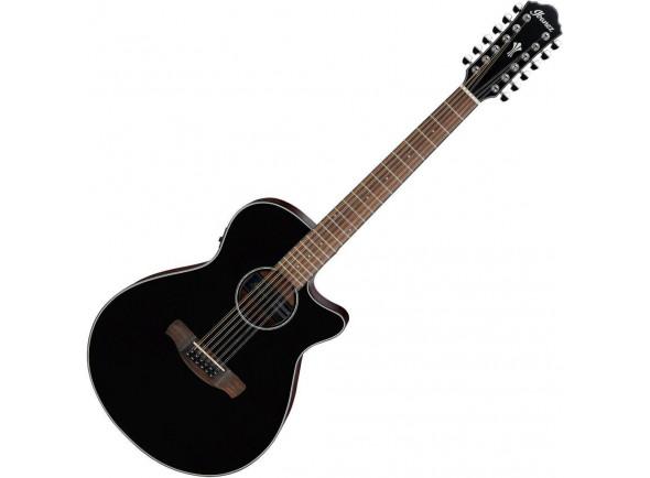 Guitarras acústicas de 12 cordas Ibanez  AEG5012-BKH