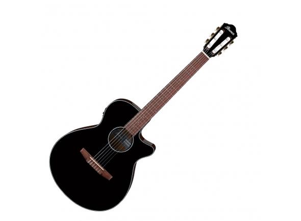 Guitarras clássicas eletrificadas Ibanez AEG50N-BKH Nylon