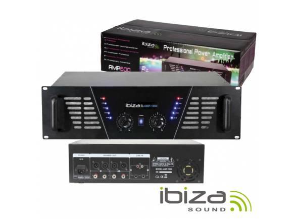 """Ibiza AMP1000  Amplificador Áudio 19"""" 2X800W PRETO"""