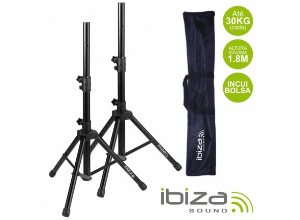 Suportes de Coluna Ibiza Conjunto 2 Suportes P/ Colunas C/ Bolsa 1.8m 30kg