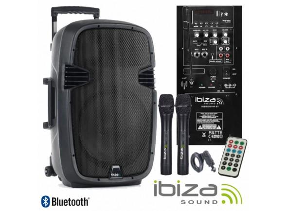 Sistemas Portáteis com Bateria Ibiza HYBRID15VHF-BT B-Stock