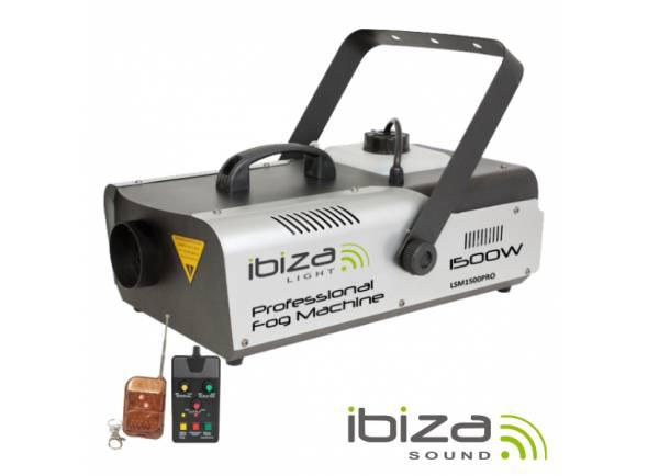 Ibiza LSM1500PRO  Máquina de Fumos 1500W com Controlador / Comando DMX