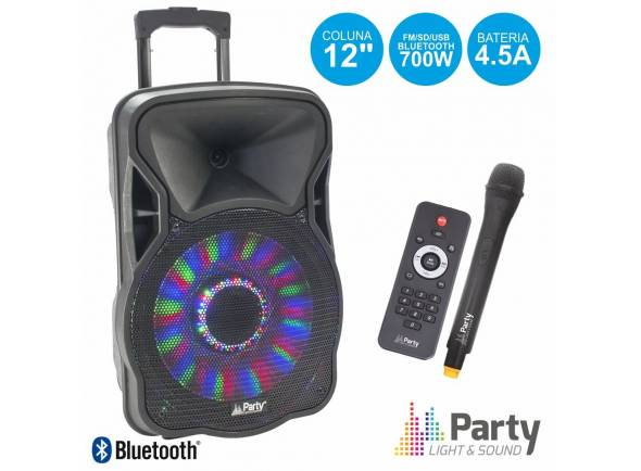 Sistemas Portáteis com Bateria Party Light & Sound PARTY-12LED