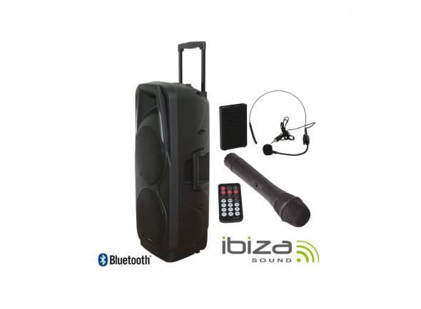 Sistemas Portáteis com Bateria Ibiza PORT 225 VHF BT