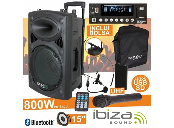 Sistemas Portáteis com Bateria Ibiza PORT15UHF-BT