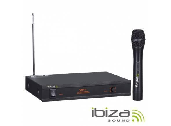 Sistema sem fios com microfone de mão Ibiza VHF-1 Micro sem fio