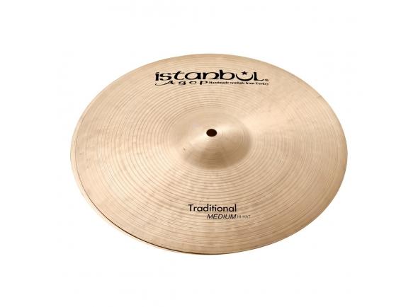 Pratos de choque Istanbul Agop 14'' Traditional Medium Hi-Hat Cymbals