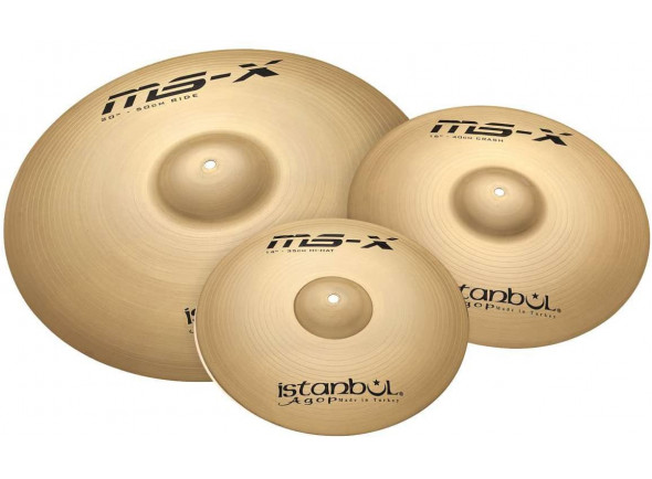 Conjunto de Pratos Istanbul  Agop Cymbals MS-X 3 Piece Set 14
