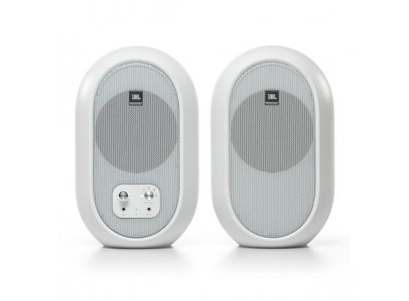 Monitores de estúdio activos JBL 104-BT Bluetooth Reference Monitors, White B-Stock
