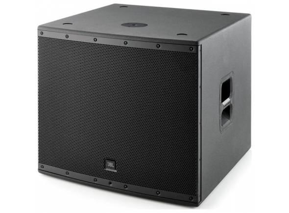 JBL EON 618 S   Potência total de 1.000W (500W RMS).  Uma entrada de áudio (XLR).  Botão liga / desliga e controle de volume / graves no painel traseiro.