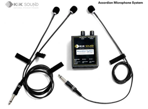 Acordeão K&K Sound Accordion Microphone System