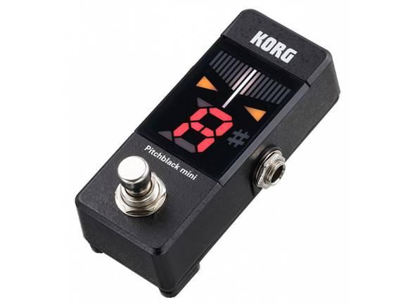 Korg Pitchblack Mini BK  Pequeno no tamanho, enorme na visibilidade! Um afinador compacto em formato de pedal, ideal para o seu pedalboard.