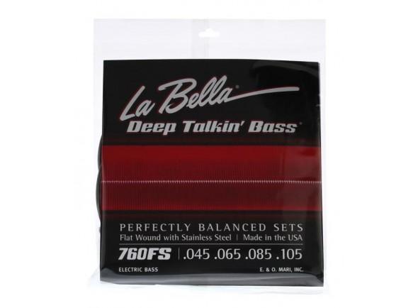 Jogos de cordas para baixo elétrico La Bella 760FS Deep Talkin Bass B-Stock