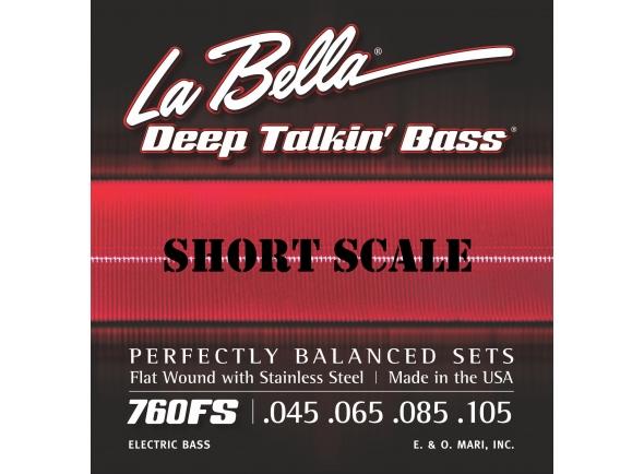 Jogo de cordas .045 para baixo elétrico de 4 cordas La Bella 760FS-S