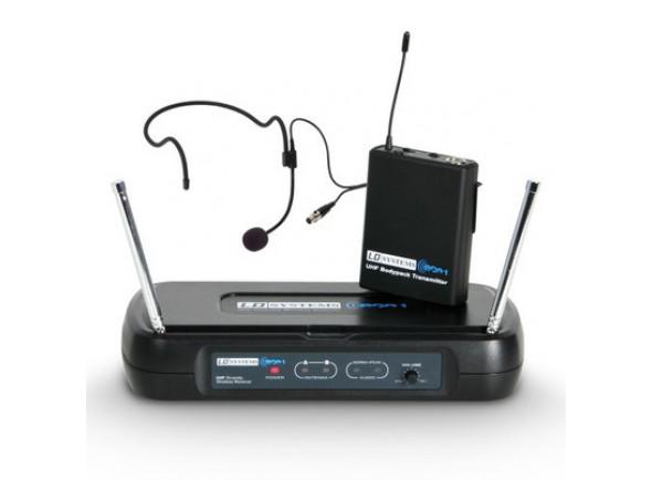 Sistema sem fio com microfone de cabeça LD Systems  ECO 2 BPH B6 II