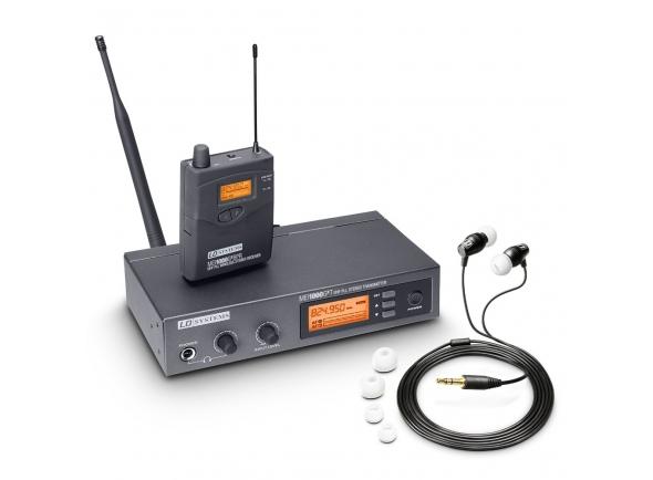 """LD Systems MEI1000G2   LD Systems MEI1000G2  Inclui o transmissor estéreo MEI 1000 T de 9,5 """", receptor bodypack MEI 1000 BPR e fones de ouvido  Até 8 sistemas simultaneamente, escolha de 160 frequências  Faixa de freqüência: 823 - 832 MHz e 863 - 865 MHz  Operação mono ou estéreo  Limitador integrado até +12 dB  2 entradas combinadas Jack / XLR  Saída de fone de ouvido  Fonte de alimentação via 2 pilhas AA  Antena TNC Destacável  Inclui montagem em rack, baterias, caixa de plástico e cabo de antena para o lado da frente"""