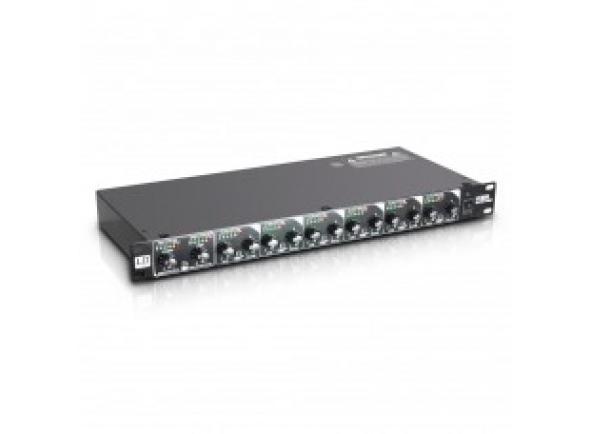 """LD Systems MS 828 B-Stock  LD Systems MS 828 - 19"""" 8-Channel Splitter/Mixer  O LD Systems LDMS828 é um mixer, divisor e amplificador de reforço em formato de rack de 19 """"para aplicações flexíveis em tempo real e estúdio.    O LDMS828 possui um estéreo e seis canais mono com medidores de nível de LED individuais; Todas as entradas e saídas são balanceadas eletronicamente. Dois canais mono estão equipados com tomadas estéreo TRS, os outros conectores são soquetes XLR. O canal estéreo possui controles de volume individuais para entrada e saída e um botão de link para loopar o sinal; Cada canal mono possui controles de volume e panorâmico, bem como um botão que alterna entre o divisor e as funções do mixer.    O LDMS828 da LD Systems é impressionante não só por suas características práticas, mas também por suas especificações técnicas. A ampla resposta de freqüência de 5 a 40.000 Hz, uma faixa dinâmica de 85 dB e a distorção harmônica total extremamente baixa de 0.0008% garantem a máxima fidelidade do sinal. O nível de trabalho nominal de -10 dBV a +4 dBU torna o mixer / divisor adequado para conexão com equipamentos profissionais e de consumo."""