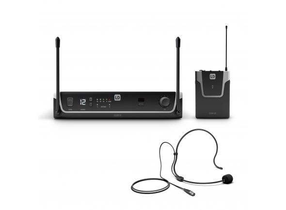 Sistema sem fio com microfone de cabeça LD Systems U306 BPH B-Stock