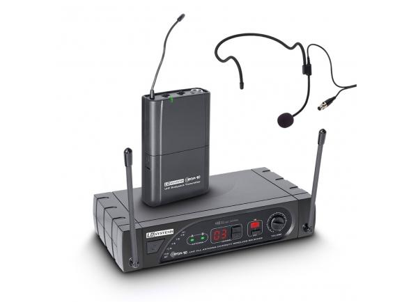 LD Systems WS ECO 16 BPH    SISTEMA DE MICROFONE SEM FIO COM PACK DE CORREIA E FONE DE OUVIDO 16 CANAIS  Um sistema sem fio de diversidade UHF PLL de 16 canais  LD Systems ECO Sets é a introdução perfeita à transmissão de áudio sem fio. Todos os componentes garantem uma excelente transmissão de áudio através de saídas profissionais.