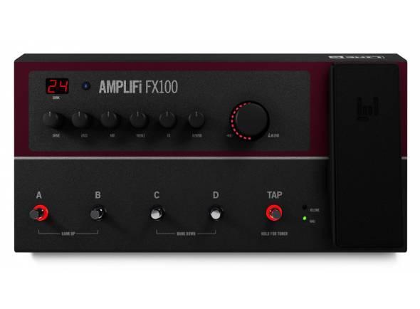 Line6 Amplifi FX100  Processador/pedaleira, + 200 amp/fx/colunas, 8fx simultâneos, streaming de áudio Bluetooth, 4 switchs (1 tempo/afinador), pedal de expressão acesso a presets ilimitados via App iOS/Android, gravador USB