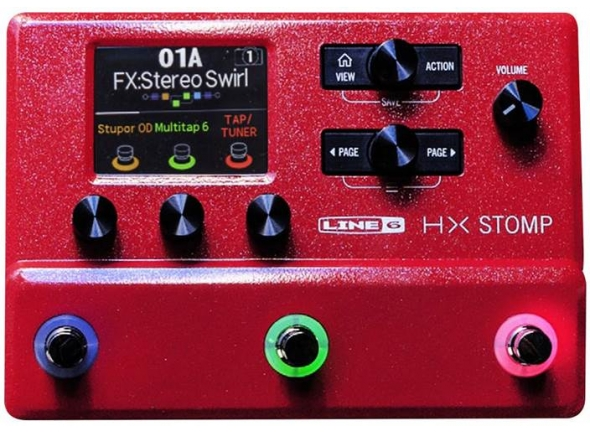 Line6 HX Stomp LTD Run Red