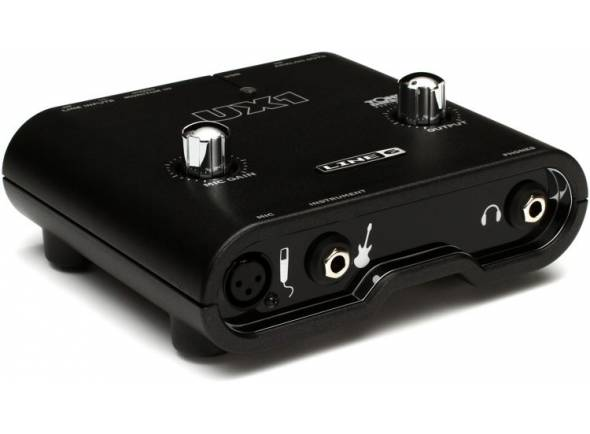 Line6 Pod Studio UX1  Interface USB, 2 entradas (1 XLR com pré-mic), Tone Direct sem latência, até 24-bit/96kHz, POD Farm 2.5 plug-in, 18 amps de guitarra, 5 amps de baixo & 5 colunas, 29 stompboxes e efeitos de estúdio