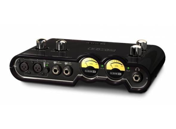 Line6 POD Studio UX2   Interface USB, 4 entradas (2 XLR com XLR com pré-mic e phantom power), VU assignáveis, Tone Direct sem latência, até 24-bit/96kHz, POD Farm 2.5 plug-in, 18 amps de guitarra, 5 amps de baixo & 5 colunas, 29 stompboxes e efeitos de estúdio