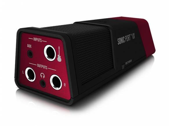 Line6 Sonic Port VX   O Sonic Port VX da Line 6 é único interface que coloca literalmente o poder de um estúdio nas mãos do compositor. Com microfones de condensador incorporados e pré-amplificadores capazes de captar o com com uma nitidez e clareza impressionantes, é fácil desenvolver ideia e gravar músicas completas com várias pistas, quando e aonde quisermos.  Interface áudio iOS/MAC/PC 2-in/2-out, até 24-bit/48kHz, microfone de condensador, entrada de guitarra e entrada estéreo, saída de linha e para auscultadores, funciona com GarageBand e JAMMIT, compatível com a app Mobile POD