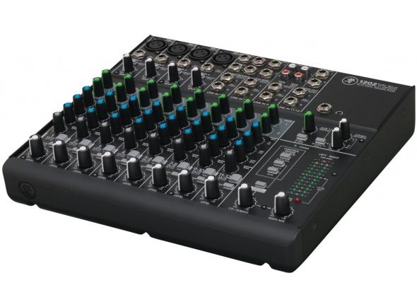 """Mackie 1202VLZ4  Mackie 1202VLZ4  - Mixer 12 Canais compacto Mackie VLZ4 Series  - 4 Onyx mic preamps qualidade boutique  - Projetado com a tecnologia Mackie de baixo ruído e alto-headroom  - 128.5 dB de faixa dinâmica  - 22 dBu de manipulação de entrada  - Resposta de frequência estendida  - Distorção abaixo de 0.0007% (20Hz - 20kHz)  - Rejeição RF melhorada, perfeito para aplicações broadcast  - Phantom power para microfones condensadores  - 12 Entradas de linha high-headroom  - Aux send, level, pan e PFL solo em cada canal  - 2 Saídas Aux Send 1/4""""  - 2 retornos Aux estéreo; EFX para Monitor  - 4 canais insert 1/4"""" no painel traseiro (conexão para efeitos, compressores, equalizadores, de-essers, filtros)  - Equalizador 3-Band Active EQ (80Hz, 2.5kHz, 12kHz)  - Filtros Lo-Cut nos canais de mic (18dB/oct. 75Hz)  - Subgrupo de saída ALT 3/4 stereo bus  - Saída 1/4"""" Control Room/Phones (Para fones de ouvido ou monitores)  - Saídas XLR balanceadas LR no painel traseiro  - Design para montagem em rack com abas opcionais (abas não inclusas)  - Entrada Tape RCA estéreo para aparelhos de áudio nível de linha  - LEDs de monitoramento estéreo 12-segmentos High-resolution  - Knobs rotativos selados resistente à poeira e sujeira  - Chassi robusto """"Construído-Como-Um-Tanque"""" com acabamento de pintura a pó  - Controles de alta visibilidade e alto CONTRASTE  - Botão Power On Liga/Desliga no painel traseiro  - Alimentação: 100/120/240 VAC 50/60Hz (Via Chave Seletora - Cabo AC destacável)  - Potência de consumo 25W"""