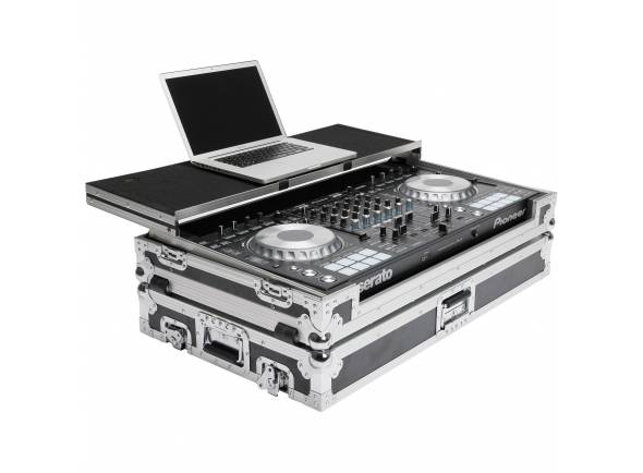 Magma DJ-Controller Workstation DDJ-SZ  Flight case com rodas p/ Pioneer DDJ-SZ (ou Numark NS7II)+ Laptop.