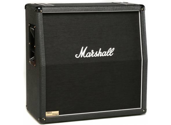 "Marshall 1960AV  Coluna Guitarra Marshall 1960AV. Electrónica: Selector (Stereo/Mono). Potência máxima: 280W. Woofer: 4 x Celestion G12 Vintage de 12"" (Vintage 30)."