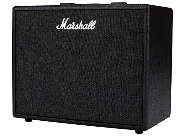 Marshall Code 50   Combo Guitarra Eléctrica Marshall CODE 50. 50W 1x12 Speaker  Tecnologia Digital;  Controles: Grave, Médio, Agudo, Ganho, Volume, Pré FX, Amp, Mod, Del, Ver, Power;  Alto-falantes de 12'';  50 watts de potência;  100 Presets de usuário totalmente editáveis;  14 pré-amplificadores MST;  4 amplificadores de potência MST;  8 gabinetes de som MST;  24 efeitos com qualidade FX;  Cria até 5 efeitos simultaneamente;  Bluetooth e conectividade USB;  Compatível com o aplicativo Marshall Gateway para Android e IOS;  Saída para fones de ouvido;  Entrada de Linha;  Tuner;  Foot Controller programável - PEDL 91009 (vendido separadamente);  Dimensões: 53 x 44 x 28 cm;  Peso: 13 Kg.