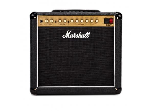 Marshall DSL20CR  O DSL20CR da Marshall é um cavalo de batalha de dois canais, capaz de conjurar qualquer som clássico de Marshall - passado ou presente. Três ECC83s na seção de pré-amplificador (em conjunto com o arranjo de ganho / volume principal do amplificador) proporcionam a você um incrível tom mojo, e com dois EL34s na sala de máquinas, você tem volume suficiente para comandar pequenos bares e boates. Marshall passou a caber esta pequena fera com atualizações críticas que lhe dão ainda mais controle sobre o seu som. Um controle de ressonância (em oposição ao interruptor profundo fixo do original) permite que você disque sua quantidade preferida de perímetro de baixo custo. Você também obtém reverb digital de nível de estúdio (em vez de mola), configurações de alta e baixa potência e um loop de efeitos de série no painel traseiro. Marshall inclusive incluiu um pedal de 2 vias para troca de canal e reverb on / off.