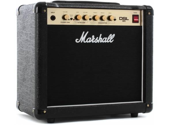 Marshall DSL5C  Combo Amplificador de Guitarra a válvulas Marshall DSL5C 2 canal 1x10in