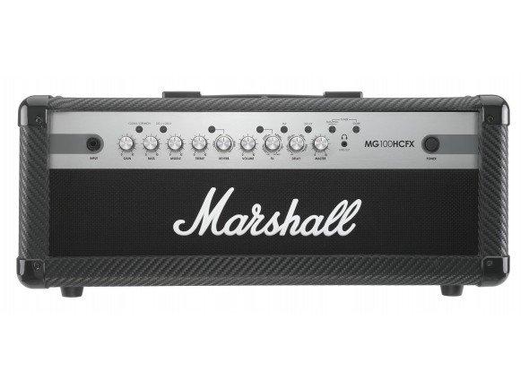 Marshall mg100hcfx  Cabeça da guitarra Marshall MG 100 HCFX, 100 Watt, 4 canais armazenável, 9 Digitaleffects, FX Loop, emulada saída de linha / fone de ouvido, MP3 / Line-in, amplificador de potência de amortecimento (Styles 2xFDD), incl. 2-botão de pedal incluído