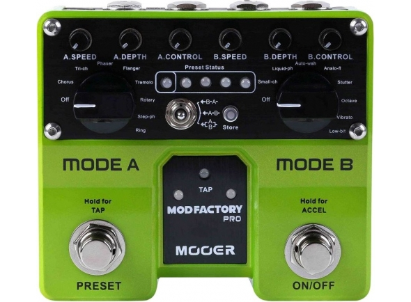 Outros efeitos para guitarra elétrica Mooer Mod Factory Pro