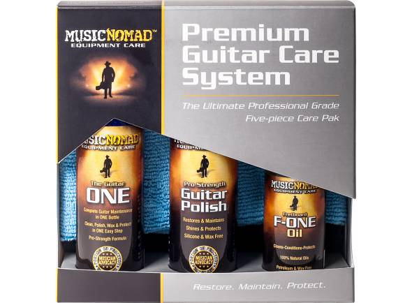Produtos de limpeza para guitarra Musicnomad Premium Guitar Care System