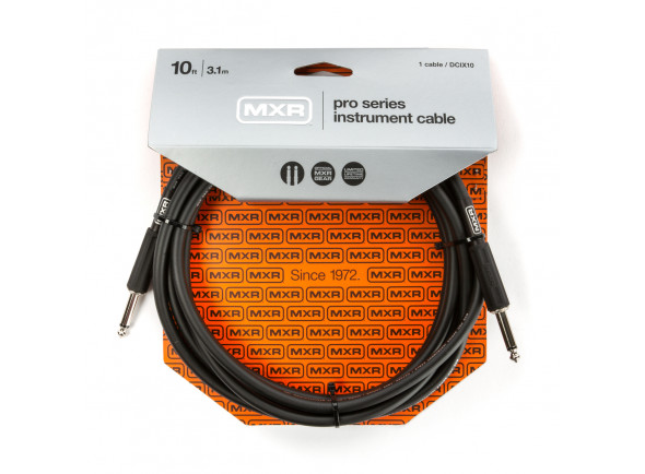 Cabo para Instrumento MXR  10FT PRO SERIES INSTRUMENT CABLE - STRAIGHT / STRAIGHT