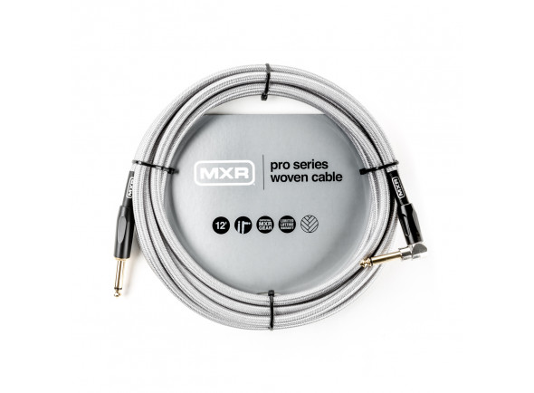 Cabo para Instrumento MXR  12FT PRO SERIES WOVEN INSTRUMENT CABLE - RIGHT / STRAIGHT