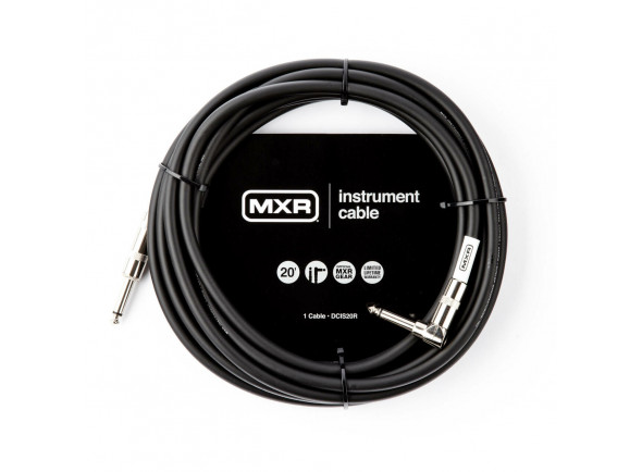 Cabo para Instrumento MXR  20FT STANDARD INSTRUMENT CABLE - RIGHT / STRAIGHT