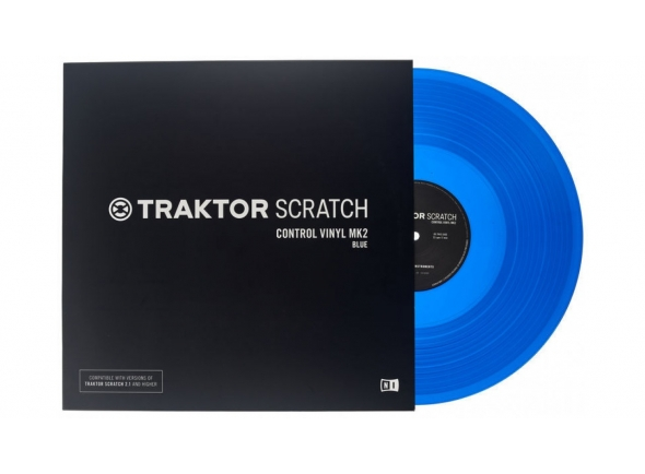 Native Instruments Traktor Scratch Vinyl Blu Mk2