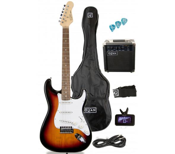 Packs de guitarra  OQAN QGE-ST25 SB PACK ELÉTRICA